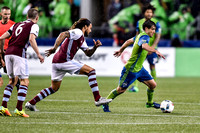The 2016 MLS Western Conference Championship 1st Leg, soccer match between the Seattle Sounders FC and the Colorado Rapids at CenturyLink Field, Seattle, Washington.