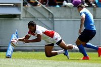 HSBC World Rugby Men's Sevens Series Wellington 13th Place Semi Final match: Japan vs. Russia