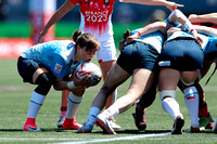 HSBC World Rugby Women's Sevens Series Langford: Russia vs. France
