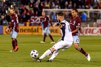 The MLS Western Conference soccer game between the Colorado Rapids and the  Philadelphia Union at Dick's Sporting Goods Park in Commerce City, Colorado on March 31, 2018.Final score of the game was th