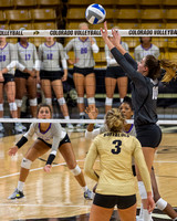 The NCAA PAC12 Women's Volleyball game between the University of Colorado Buffaloes (CU) and the Abilene Christian University Wildcats (AC) at Coors Event Center at the University of Colorado in Bould