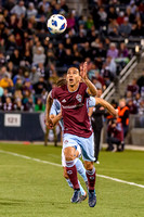 The MLS Western Conference soccer game between the Colorado Rapids and Sporting Kansas City at Dick's Sporting Goods Park in Commerce City, Colorado. Final score of the game was the Colorado Rapids -