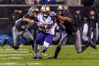The NCAA PAC-12 Football game between the University of Colorado Buffaloes (CU) and the University of Washington Huskies (UW) at Folsom Field on the University of Colorado campus in Boulder, Colorado.