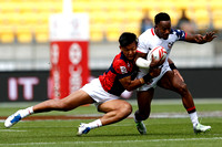 HSBC World Rugby Men's Sevens Series Wellington Challenge Trophy Quarter Finals match: USA vs. Japan