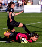 The PAC12 Women's Soccer game between the University of Colorado Buffaloes (CU) and the University of California CalBears (CA) at Prentup Field in Boulder, Colorado.Final score of the game was Califor